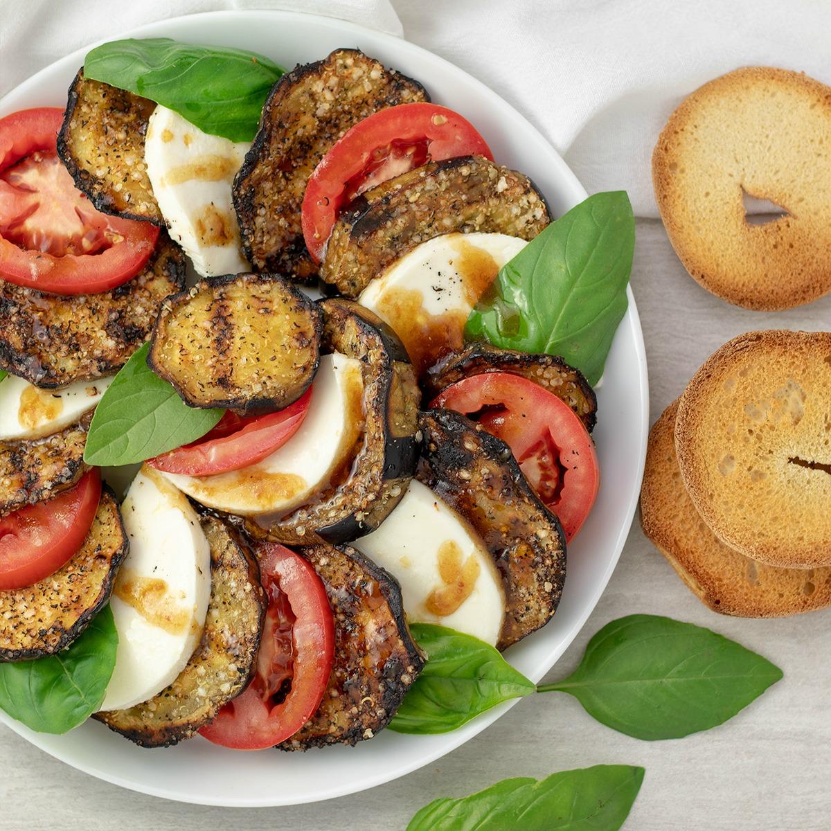 Eggplant Caprese Salad Recipe